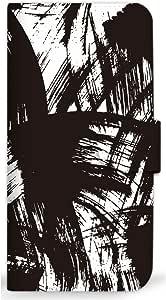 mitas 智能手机壳 手册式 和式习字 刷 涂鸦SC-0366-A/iPhoneSE 1_iPhoneSE (iPhoneSE) A