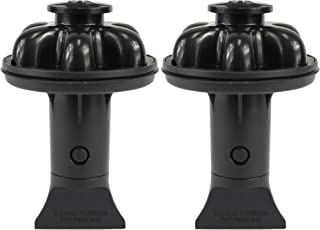 DANCO (DG2-P) Dispose Genie 2.0 厨房水槽过滤器,塞子和防溅板,带食品刮刀 黑色 2 件装 10922A