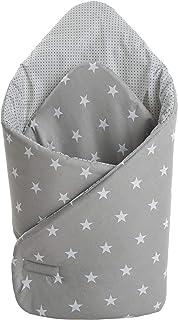 插垫 * 棉 75 x 75 厘米 婴儿床垫 双面 柔软 全年的多功能抗* 婴儿 中号*伙伴 Sternen mit grauen Punkten L