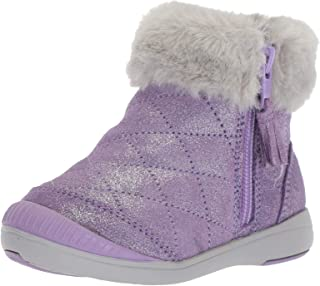 Stride Rite 儿童 Chloe 女童闪耀麂皮靴时尚靴子