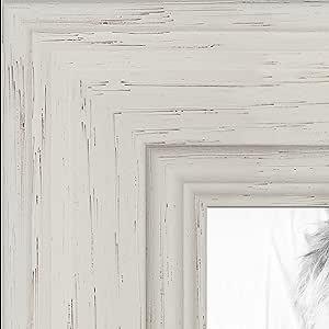 """实木上的白色着色画框 .3.81 cm 宽 白色 9 x 19"""" 2WOM0066-78238-YWHT-9x19"""
