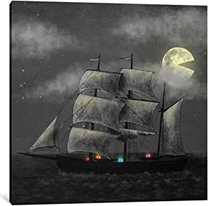 """iCanvasART 1 Piece Ghost Ship Square Canvas Print by Terry Fan, 12"""" x 12""""/0.75"""" Depth"""