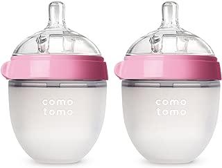 COMOTOMO 可么多么 婴儿奶瓶, 粉色, 5 盎司/约142.06毫升(2个装)