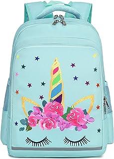 """学前背包适合儿童女孩幼儿背包幼儿园学校书包 Y0058 Unicorn Mint Green 14.2""""x4.5""""x10.2"""""""