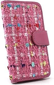 白色边框手机保护壳翻盖式 ファンシーブレイド 浅粉色 3_ Galaxy J SC-02F Samsung