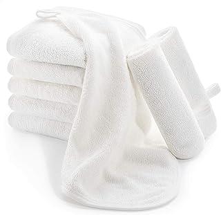 Bamboo 婴儿毛巾,Momcozy 8 条装婴儿毛巾,超柔软吸水新生儿浴巾,适合敏感皮肤,可重复使用的婴儿湿巾,婴儿出生淋浴,25.4 厘米 x 25.4 厘米