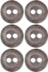 Mibo 特殊表面喷漆粗花纹纹理按钮球形边缘和中间 2 孔 灰色花呢 30mm ZZC_MIB_SS16_5929TW_48GRY