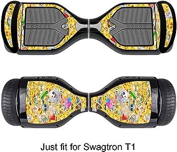 悬停板贴纸 - 自平衡电动滑板车贴纸 - 自平衡移动长板贴花 - 适用于 Swagtron T1 的智能保护盖乙烯基保护套