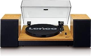 Lenco 电唱机 LS-300 - 唱机带蓝牙和2 x 10W RMS 木质扬声器