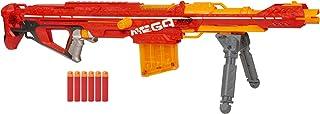 Hasbro 孩之宝 Nerf 热火 Centurion 巨型爆破玩具枪,带有可折叠的两脚架,6支飞镖夹,6个官方巨型飞镖,适用于儿童,青少年和成人的螺栓动作,灰色,常规
