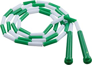 Champion Sports 健身分段跳绳,6 英尺长,*和白色 - 经典串珠跳绳,适合体育,健身房玻璃,个人使用 - 儿童,成人(PR6)