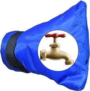 Home-X 户外水龙头套冬季防管道水龙头套夏季花园水龙头包防水防锈保护袋外龙头套-蓝色