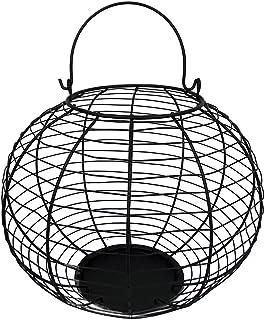 Craft Outlet Wire Basket,11 x 13.5 英寸,黑色
