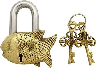 古董饰面美丽家居装饰手工鱼挂锁黄铜锁