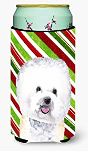 Bichon Frise Candy Cane Holiday Christmas Michelob Ultra Koozies for slim cans SC9322MUK 多色 Tall Boy