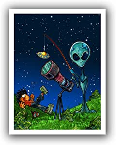 ArtWall 'UFO Kid 3' Unwrapped Canvas Art by Luis Peres, 22 by 28-Inch