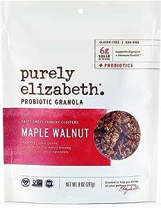 purely elizabeth Probiotic Gluten-Free Granola, Maple Walnut, 8 oz