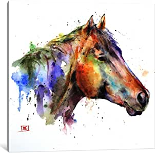 iCanvasART DCR54-1PC3-12x12 Icanvas Horse 印花 Dean Crouser 出品 0.75 by 26 by 26-Inch DCR54-1PC3-26x26