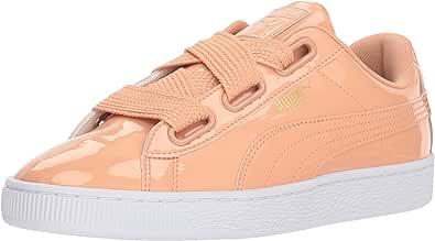 PUMA 彪马 女士 Basket Heart Patent 运动鞋 Dusty Coral-dusty Coral 6.5