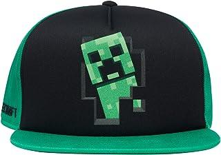 Minecraft 男童爬行服脸帽 - 黑色和*青少年后扣帽