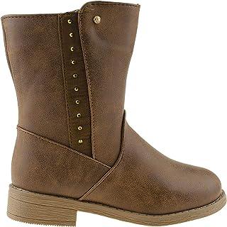 Rampage 女童小童一脚蹬高筒冬季靴带饰钉装饰