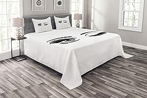 Ambesonne 多色床罩,多种尺寸可选 Black Lilac 大号 bed_48959_queen