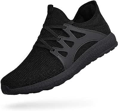 Feetmat 男式运动鞋休闲健身运动舒适步行鞋黑色 43 码