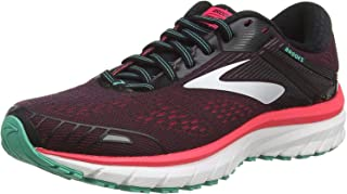 Brooks 男式 Ghost 12 跑鞋 Black Pink Green 7 UK