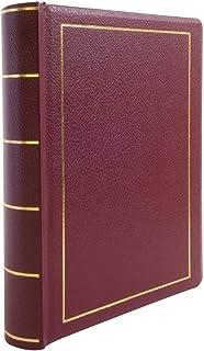 Wilson Jones 分钟书,仅活页夹,字母大小,250 页容量,仿皮革,红色 (w396-11)