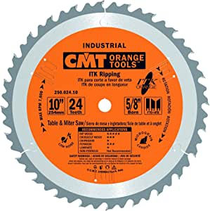 ITK Industrial Rip Saw Blade D 10   T 24   G 1FTG+2ATB   B 5/8-Inch