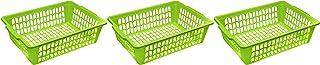 YBM HOME 小型塑料篮纸整理盒和信件托盘,可放置文件、A4纸和信件、家庭和办公室储物箱 * 32-1194-3green