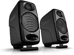 iLoud 超小型监听器 音箱 黑色特别版 全球范围内超小型录音室参考双监听器 4个D类功放 50W(RMS)双功放 倒相式音箱 黑色
