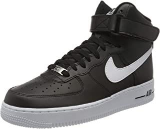 Nike 耐克 Air Force 1 High '07 An20 男士篮球鞋,黑色/白色