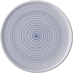 Villeroy & Boch 的 Artesano 自然漂浮浮床/披萨板 - 优质瓷器 - 德国制造 - 可用于洗碗机和微波炉 - 31.75 厘米 蓝色 10-4858-2590