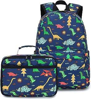 学龄前背包 儿童书包 小学生用 Dinosaur Navy Blue 大