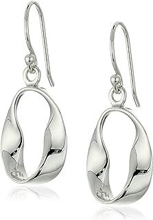 Amazon Collection 标准纯银波浪形耳环