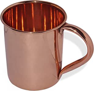 Moscow Mule 铜杯,带焊接铜把手,473.24 g 铜色