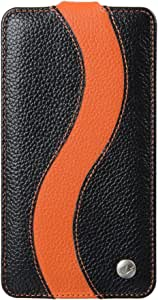Melkco - Premium Leather Case for Samsung Galaxy Note 3 GT - N9000 - Special Edition Jacka Type - (Black/Orange) - SSNO90LCJS1BKOELC