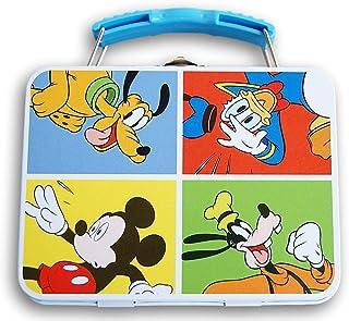 米老鼠锡制金属手提箱带提手 - 尺寸 13.97 x 10.80 厘米(原色)
