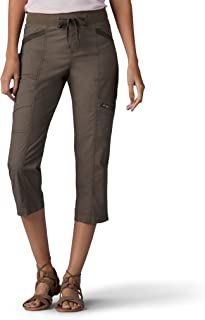 LEE 女式宽松款波纹针织腰工装七分裤