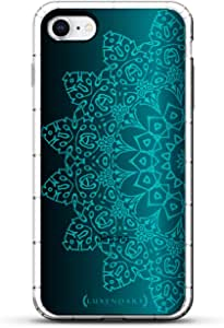 Luxendary Designer,3D 印花,时尚,高端,气袋垫LUX-I8AIR-MANDALA7 ORNAMENT: BLUE MANDALA 透明