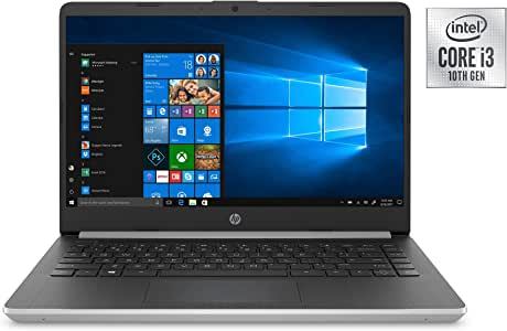 HP 14 系列 14 英寸高清 SVA BrightView WLED-背光笔记本电脑,英特尔* 10 代酷睿 i3-1005G1 *高 3.4 GHz,4GB DDR4,128GB SSD,Windows 10 家庭版HP 14  8GB   256GB