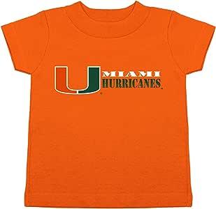 Two Feet Ahead NCAA 迈阿密飓风儿童中性款短袖 T 恤,2,橙色