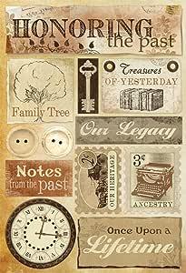 Karen Foster Design Acid and Lignin Free Scrapbooking Sticker Sheet, Honoring The Past