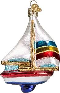 Old World 圣诞节玻璃吹制装饰品,配有 S 形挂钩和礼盒,更多体育系列