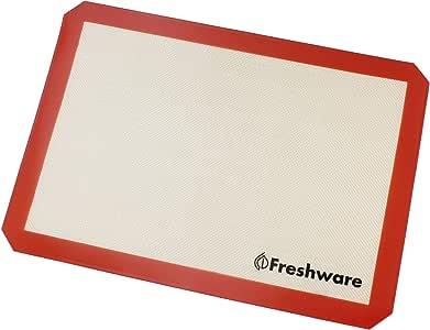 Freshware Silicone Non-Stick Baking Mat, Half Size, 16.5 x 11.6 inch, BM-102