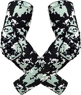 HDE 压缩袖套加垫肘部保护罩儿童篮球射击套 - 青年运动橄榄球棒球垒球