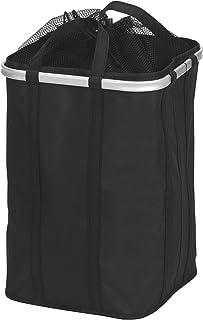 Household Essentials 可折叠 Krush 洗衣篮,顶部为网状,铝框 黑色 Single Hamper 2225