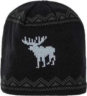 Pierre Cardin 设计师无檐小便帽男女皆宜,纯色和驼鹿针织图案