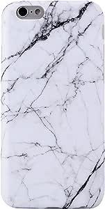"iPhone 6Plus 手机壳 iPhone 6S PLUS 手机壳 vivibin 减震哑光 TPU 软橡胶硅胶手机壳手机保护套适用于 iPhone 6Plus/iphone 6S plus- 14cm White Marble-082 5.5"""